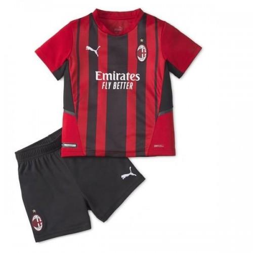 AC Milan Hemmatröja Barn 2021/22 Kortärmad